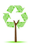 Recycle tree Royalty Free Stock Photo