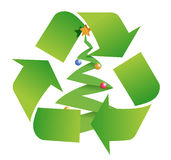 Recycle tree Royalty Free Stock Images