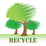 Recycle Trees Shows Earth Friendly And Conservation Stock Photography