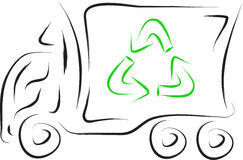 Recycle truck Royalty Free Stock Photo
