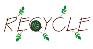 Recycle twig text Stock Images