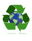 Recycle / vector. Protect the World from polution. vector illustration Royalty Free Stock Images