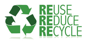 Recycle / vector. Protect the World from pollution. vector illustration Royalty Free Stock Image