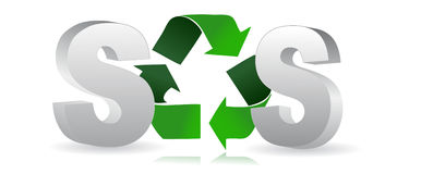 Recycle / vector. SOS Protect the World from pollution. vector illustration Stock Images