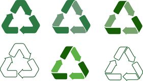 Recycle vector icons Stock Photo