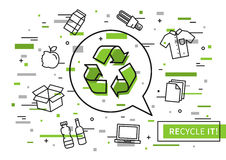 Recycle it vector illustration with colorful elements Stock Photos