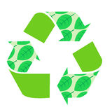Recycle Vector natural green leaves, icon, arrow Stock Images