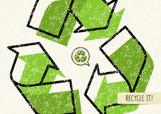 Recycle it vector poster Stock Image