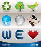 Recycle vector set Royalty Free Stock Photos