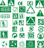 Recycle vector symbol stamp Royalty Free Stock Photos