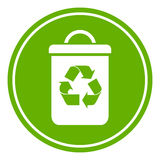 Recycle waste bin. Vector icon Royalty Free Stock Photography
