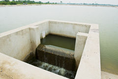 Waste water treatment. Recycle waste water for environment stock photo