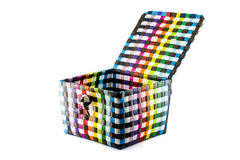 Recycle weave basket Stock Photography
