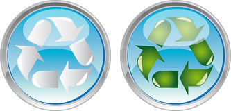 Recycle web button Royalty Free Stock Photography