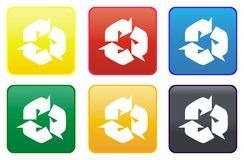 Recycle web button Royalty Free Stock Photo