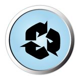 Recycle web button Stock Photography
