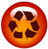 Recycle web button or icon Stock Images
