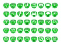 Recycle web buttons Stock Photos