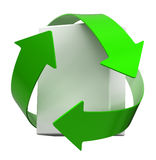 Recycle white box Stock Image