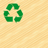 Recycle Wood. Illustration of recycle wooden background Royalty Free Stock Image