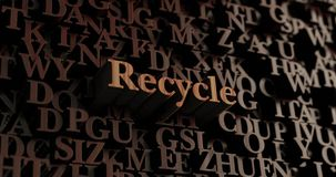 Recycle - Wooden 3D rendered letters/message Royalty Free Stock Photography
