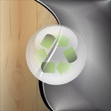 Recycle-Wooden metal background Royalty Free Stock Image