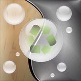 Recycle-Wooden metal background Royalty Free Stock Photo