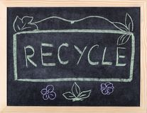 Recycle word Stock Photo
