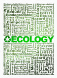 Recycle word cloud conceptual with Ecology word Royalty Free Stock Photos