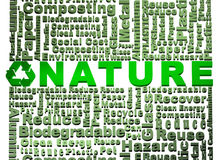 Recycle word cloud conceptual with Nature word Royalty Free Stock Image