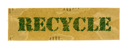 Recycle words on carton paper Royalty Free Stock Image