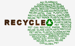 Recycle words related Royalty Free Stock Image