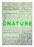 Recycle words related with nature word highlight Royalty Free Stock Photo