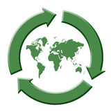 Recycle world Royalty Free Stock Photo