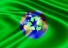 Recycle world flag Royalty Free Stock Image