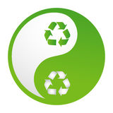Recycle yinyang. Illustration of recycle yinyang on white background Stock Image
