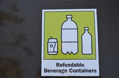Recycle your beverage containers royalty free stock images