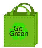 Recycleable shopping bag Stock Image