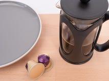Recyclebare Kaffeealuminiumhülsen stockbild