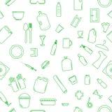 Recyclebare Plastikeinzelteile des Vektors stock abbildung