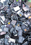 Recycled batteries royalty free stock photo