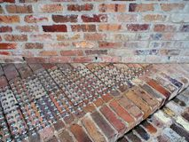 Recycled Brickwork Detail, Building Entrance Stock Photos