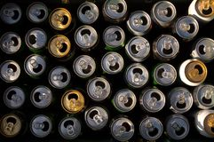 Recycled cans Royalty Free Stock Images