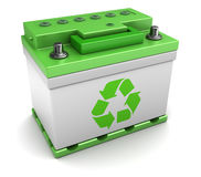 Recycled car battery Stock Photography