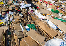 Recycled cardboard boxes Royalty Free Stock Images