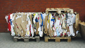 Recycled Cardboard Bundle Royalty Free Stock Photos