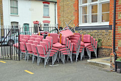Recycled charity chairs Stock Images