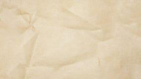 Recycled a chiffonné le fond de texture de papier brun Images libres de droits