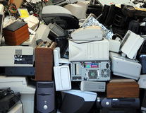 Recycled computers. Royalty Free Stock Photo