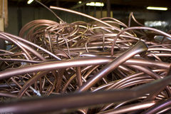 Recycled Copper Tubing Royalty Free Stock Photo